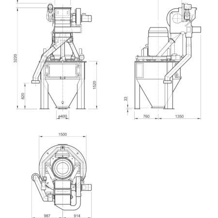 Disegno Mulino Verticale Disegno Mulino Verticale MFV 1000