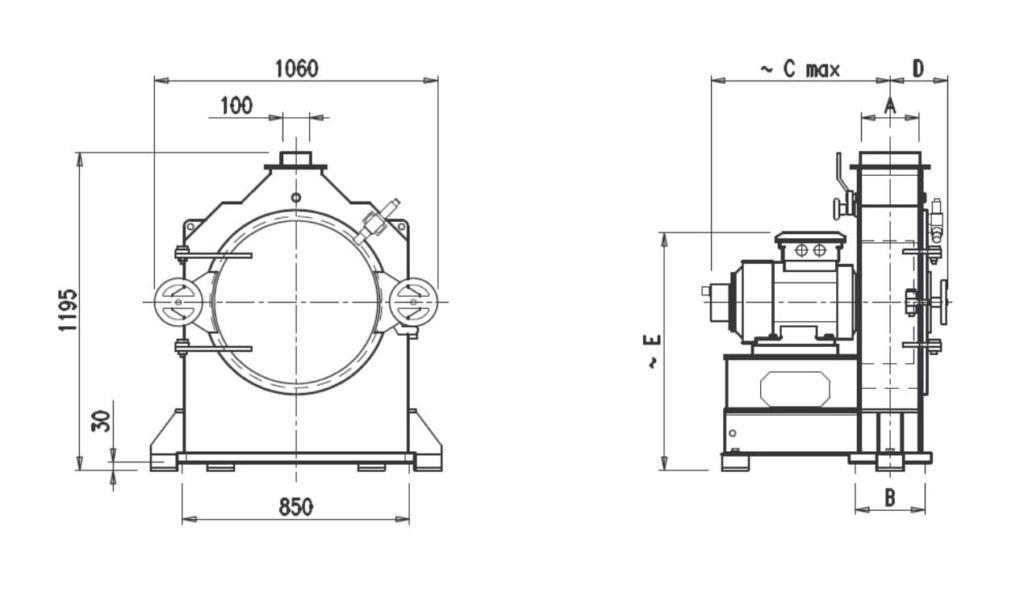 Hammer mill MF28D300 - MF28D500
